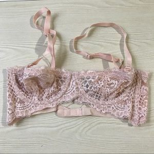 Free People Blush Pink Bustier Bralette